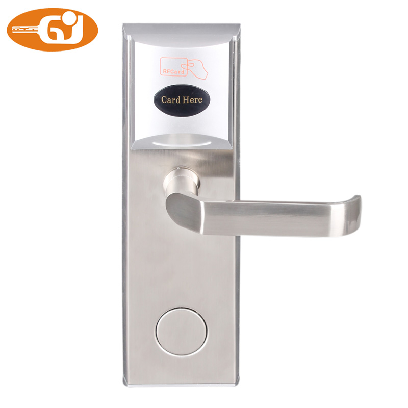 Digital RFID Card Door Lock For Hotel/Home Use With Deadbolt And Anti card Latch