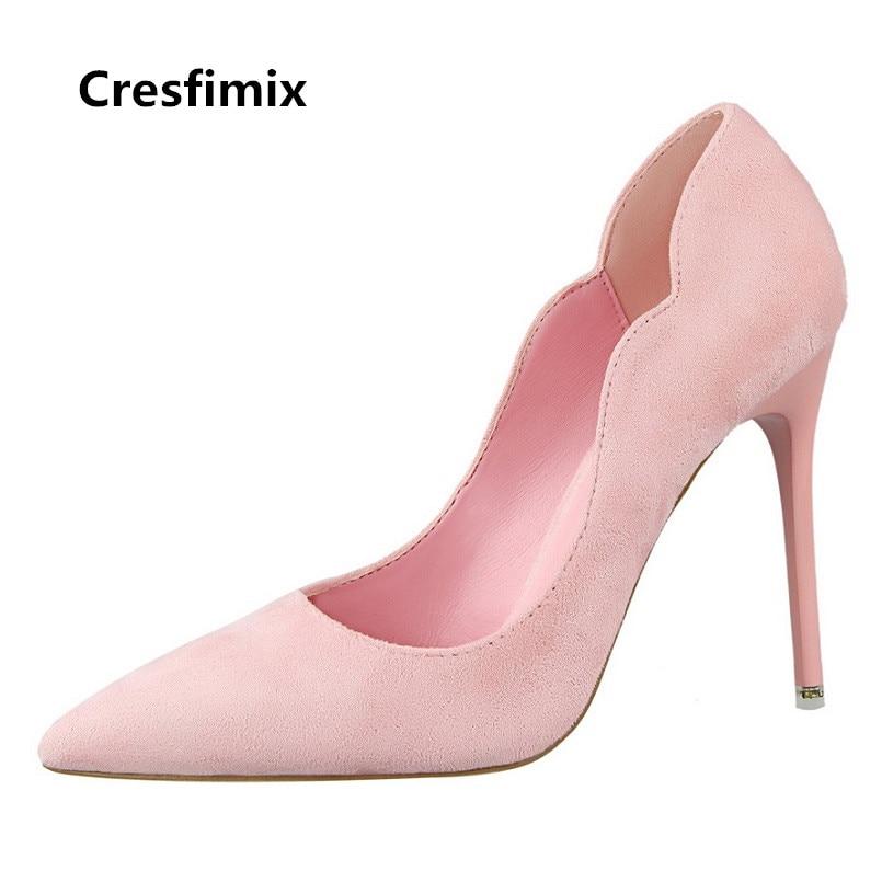A Moda Lindo Zapatos Dama c Cresfimix Tacón Tacones g Mujeres f b De Calle Alto On Altos A3296 Mujer e Slip Ocio Genial Cómodo qqfU7I8wa