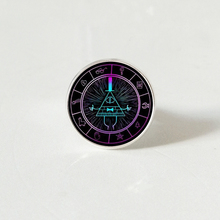 Anime Gravity Falls silver color rings Bill Cipher Wheel Mysteries Pattern Glass Dome exquisite fashion gift