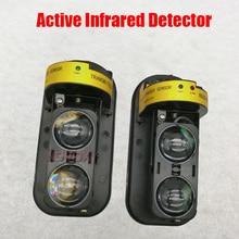 Фотоэлектрический забор с двойным лучом по периметру, активный инфракрасный ИК-датчик, барьер, детектор 10-100 м, наружная сигнализация для окон