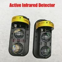 NOVOXY Photoelectric Dual Beam Perimeter Fence Active Infrared IR Sensor Barrier Detector 10 100M Window Outdoor Intrusion Alarm