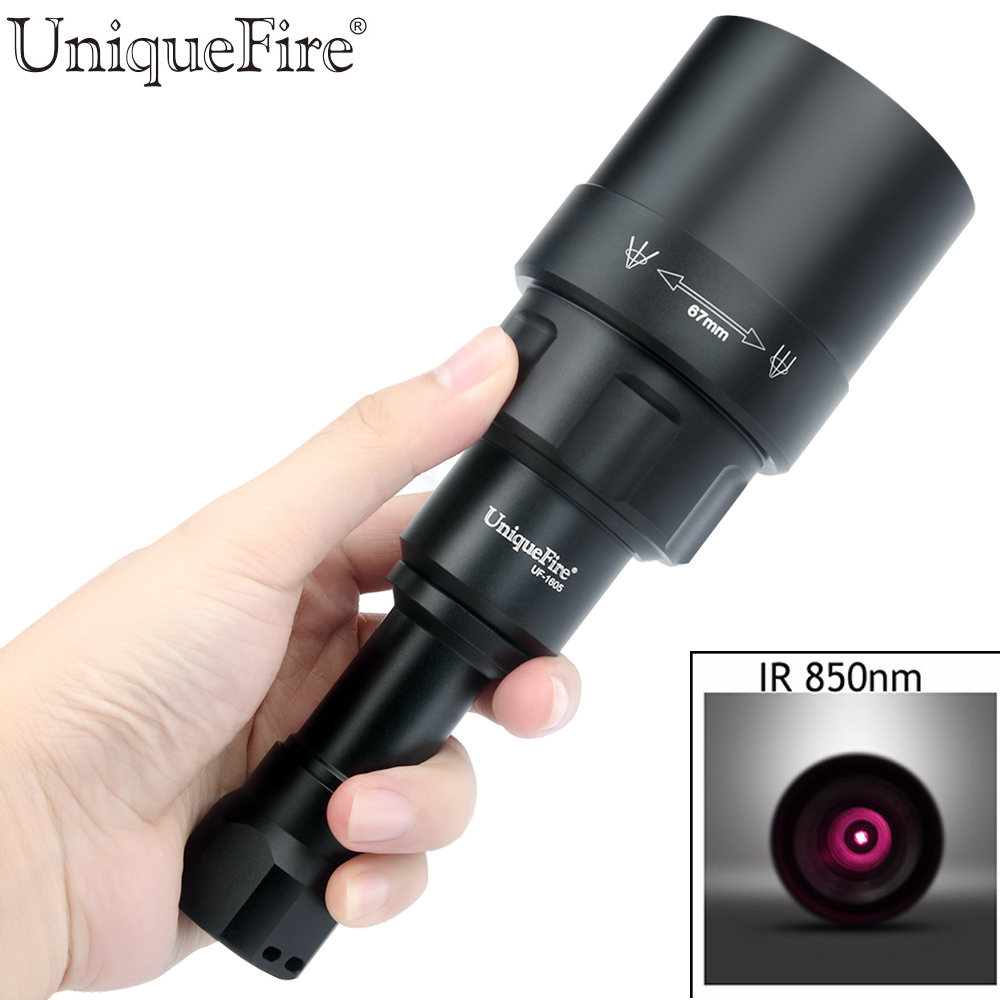 UniqueFire1605 T67 IR 850NM Infrared Light Night Vision Flashlight ,Flashlight Has A USB Interface Can Direct Charge For Hunting