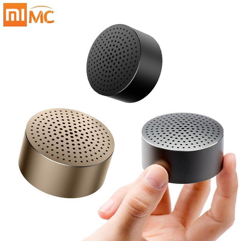 Original Xiaomi Speaker Portable mini Wireless Bluetooth Metal Steel Ultra Car Speakers for Mobile Phone Computer Handfree Audio