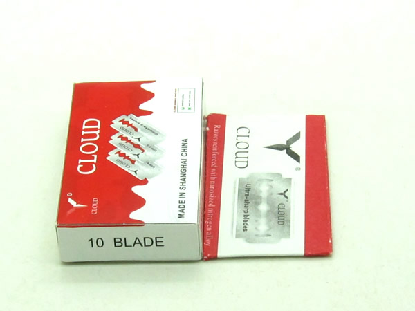 Cloud 100 pcs Per Lot Japan 6CR13 Stainless Steel Double Edge Blade Safety Razor Blade,Easy to Use Good Quality LZS0107
