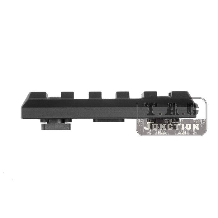 Taktische M-LOK 5 Slot Picatinny/Weaver Schiene Segment Aluminium Mount Adapter für MLOK Handschutz Forend Abschnitt 2,5 zoll 65mm