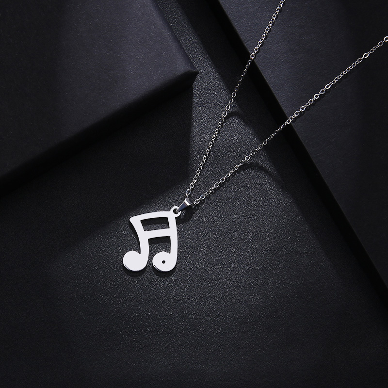 Stainless Steel Set Musical Notes Necklace Bracelets Earrings S548