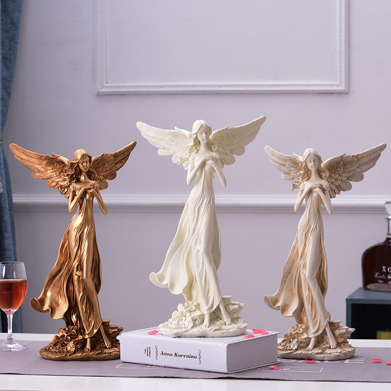 Goddess Figure Statue Beauty Angel Sculpture Colophony Crafts Home Decoration Accessories For Living Room L3243Goddess Figure Statue Beauty Angel Sculpture Colophony Crafts Home Decoration Accessories For Living Room L3243