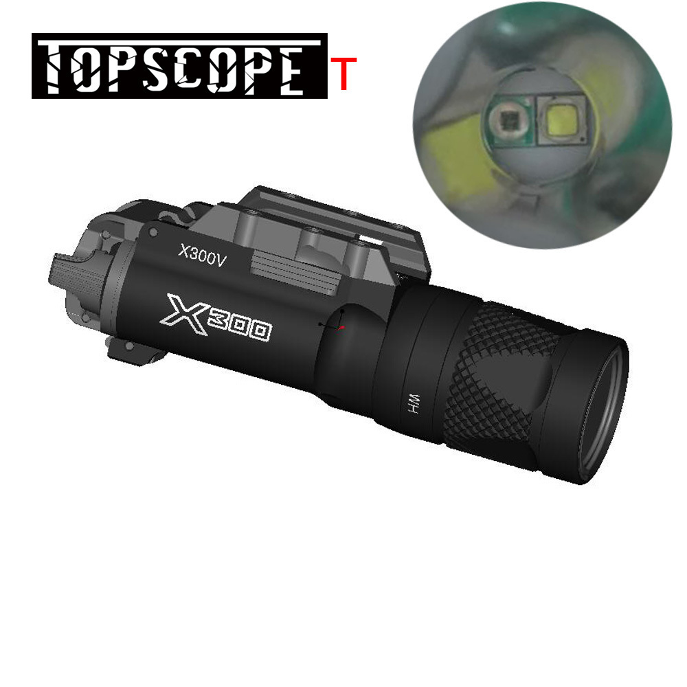 SF Tactical LED X300V-IR Weaponlight X300 Series Flashlight White and IR Output Fit 20mm Picatinny Rail 2 ColorsSF Tactical LED X300V-IR Weaponlight X300 Series Flashlight White and IR Output Fit 20mm Picatinny Rail 2 Colors
