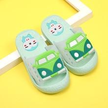 Новые летние тапочки для мальчиков и девочек; нескользящие пляжные сандалии из ПВХ с мягкой подошвой; Домашние повседневные шлепанцы для ванной