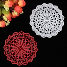 New Flower Doily Metal Cutting Dies Stencils for DIY Scrapbooking/photo album Decorative Embossing DIY Paper Cards(China (Mainland))