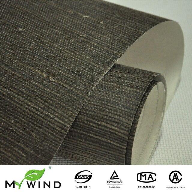 Echt gras dunkelbraun grasscloth wand papier strukturierte ...