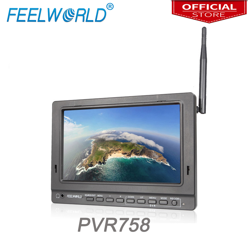 Feelworld PVR758 7 inch FPV Monitor with DVR 5 8G 32CH Diversity Receiver 1024x600 IPS 7