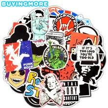 100 piezas Retro de la banda de Rock música pegatinas Punk Graffiti etiqueta  para guitarra portátil Snowboard maleta coche imper. 22e4acf1c22