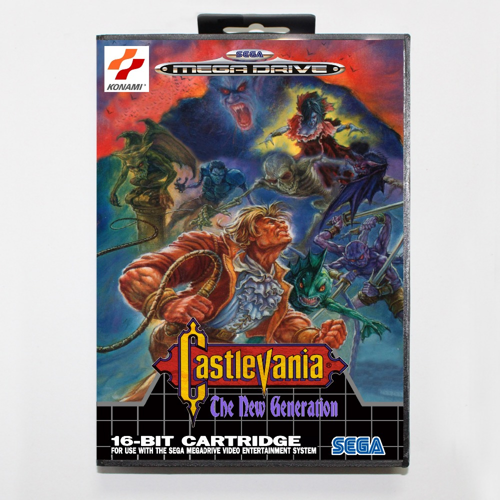 Castlevania the new generation 16 bit SEGA MD Game Card With Retail Box For Sega Mega Drive For Genesis image