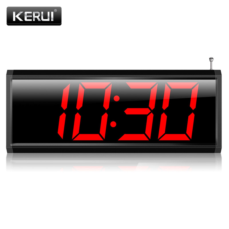 KERUI Restaurant Pager Wireless Calling System Receiver Host External 3.5mm Alarm Can Used as Alarm System Wireless Pager System singcall wireless calling system patient alarm system emergency sound and light alarm small caregiver receiver with two buttons