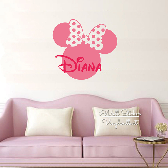 Aliexpresscom  Buy Custom Name Wall Sticker Girls Name Wall - Custom cut vinyl wall decals