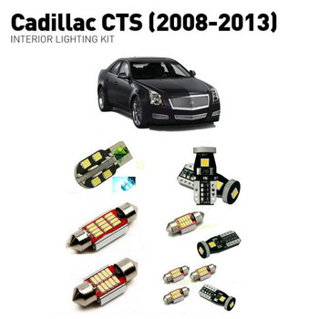 Led interior lights For Cadillac cts 2008-2013 18pc Led Lights For Cars lighting kit automotive bulbs Canbus Error Free