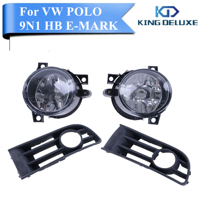 ФОТО Left & Right Car Bumper Lamps Fog Front Grille Lights Foglamps For VW Polo 9N1 HB E-MARK 2001 - 2005 Car Accessory  #P94