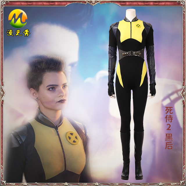 65c38b3b1c4 Deadpool Costume Negasonic Teenage Warhead Cosplay Costume Women Halloween  Costume Ellie Phimister Selene Gallio Female Yellow
