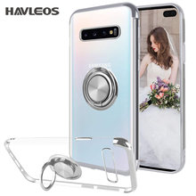 Magnetic Ring Transparent Phone Case For Samsung Galaxy Note10 Note 10 Pro 9 S9 S10 Plus S10E Women Clear Soft Silicone Cover 5G(China)