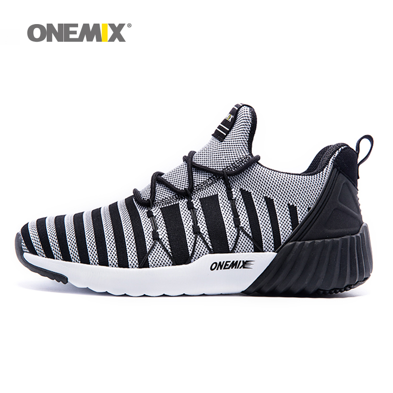 ONEMIX Outdoor Sport Sneakers Unisex Men Running Shoes 2017n Women Tranier Shoes in White Top Tranier Shoes Men Jogging Shoes