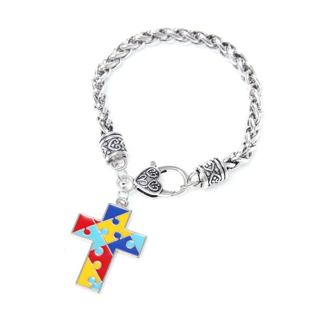 adjustable bracelet bracelets collections charm silver img awareness bangle expandable ribbon wire crystal piece tagged puzzle gift autism autistic