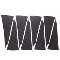 Car Styling 1set 16 Inches Carbon Fiber Wing Wheels Mask Decal Sticker Trim For VW Satigar