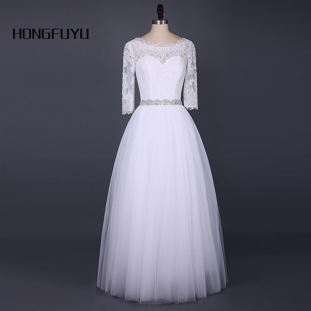 Traje de novia de encaje blanco con cable pequeño logotipo bordado de encaje y apliques 1 Par