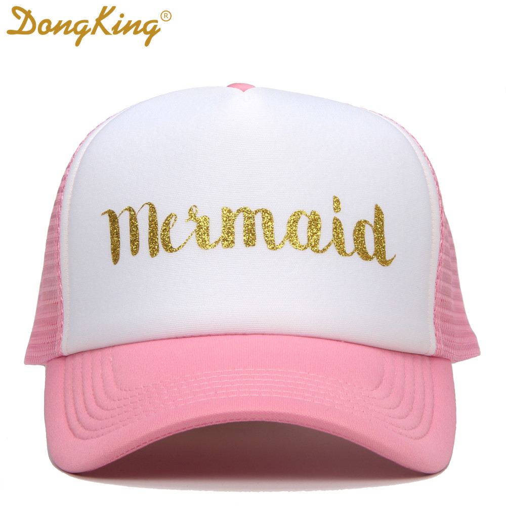 54ef88c2f87 DongKing Casual Women Hat Letter MERMAID Baseball Cap Snapback Hats For  Female Dad Hat Hip Hop