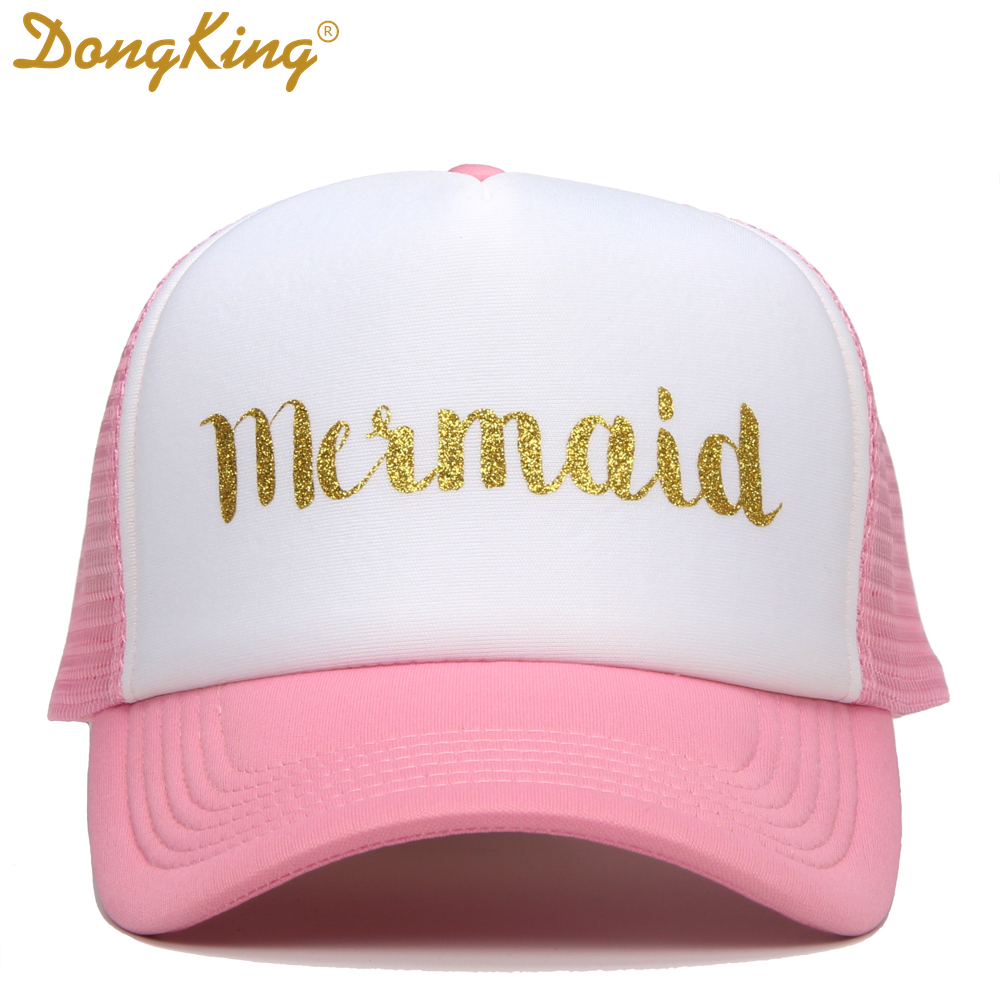 DongKing Casual Women Hat Letter MERMAID Baseball Cap Snapback Hats For  Female Dad Hat Hip Hop Trucker Cap-in Baseball Caps from Apparel  Accessories on ... 8e30d367ab1