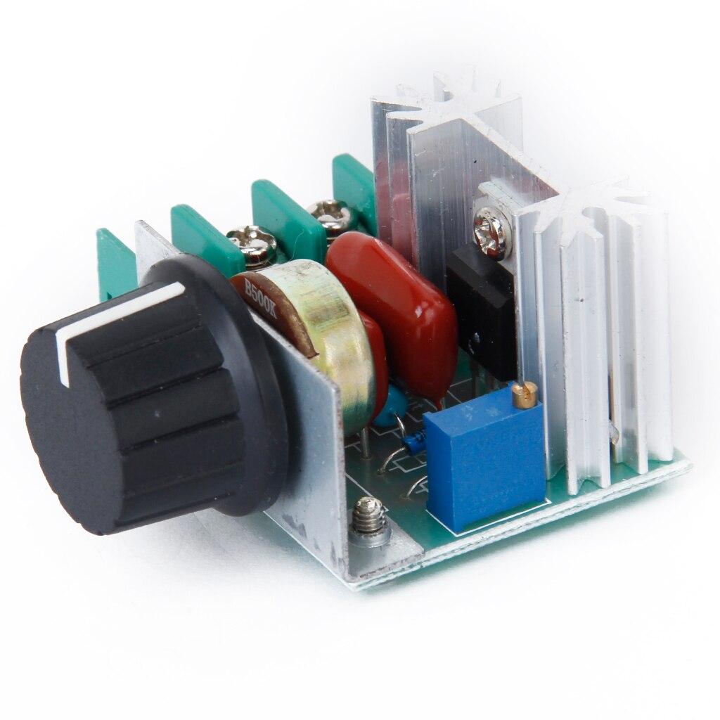 Regulador de voltaje SCR AC 110 ~ 220V 2000W regulador de velocidad de temperatura