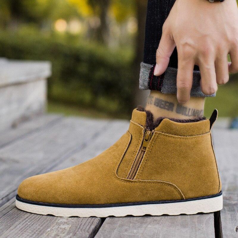 Waterproof Mens Sneakers Winter Fur Sports Shoes Men Jogging Shoes Keep Warm Anti Slip Boots Zapatos Corrientes De Verano Boots