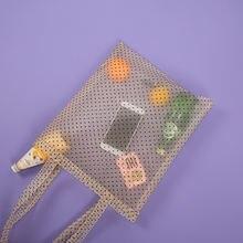 Прозрачные сумки тоуты тень сетчатые для покупок из органзы