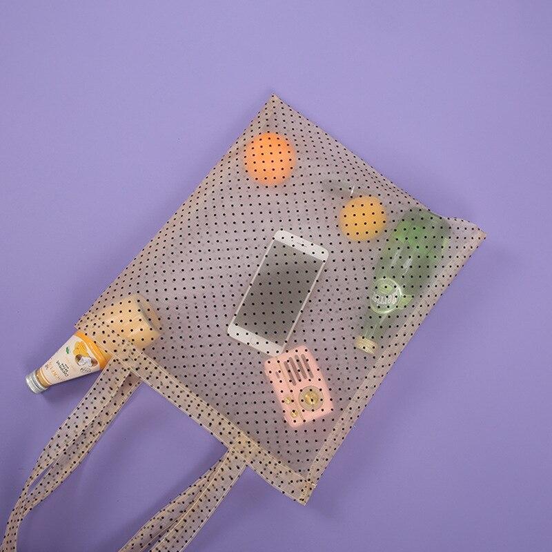 L'OMBRE Transparent Tote Bags Mesh Tote Bags Organza Shopping Bags Women Handbags Shoulder Bag сумка женская Summer