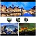 Aukey pl-a1 3-em-1 clip-on lens set com 180 graus olho de peixe + 0.67X WIDE Angle & Macro 10X Lente para Celular telefone