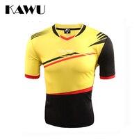 KAWU 2017 tuỳ football jerseys giá rẻ chất lượng cao Men Sport Chạy T Shirt Quần Áo Ngắn Tay Áo Sportwear C17004