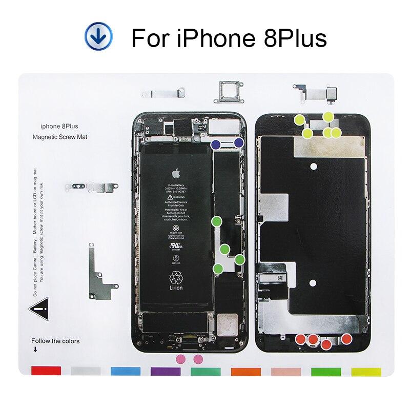 UANME 25 x 20 cm 1 Piece Professional Guide Magnetic Screw <font><b>Mat</b></font> for iPhone 8 8Plus X Guide Pad <font><b>Repair</b></font> Tools