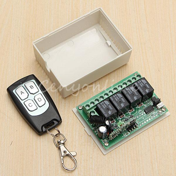 New Arrival for DC 12V 4CH Small Channel Wireless Remote Control Radio Switch 433mhz Transmitter Receiver 200m High Sensitivity new arrival for ac 220v 1ch small channel wireless remote control radio switch 315mhz 1 transmitter 3 receiver 200m sku 5226