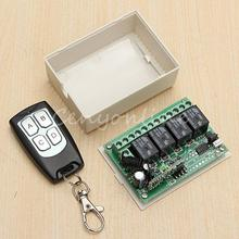 New Arrival for DC 12V 4CH Small Channel Wireless Remote Control Radio Switch 433mhz Transmitter Receiver 200m High Sensitivity