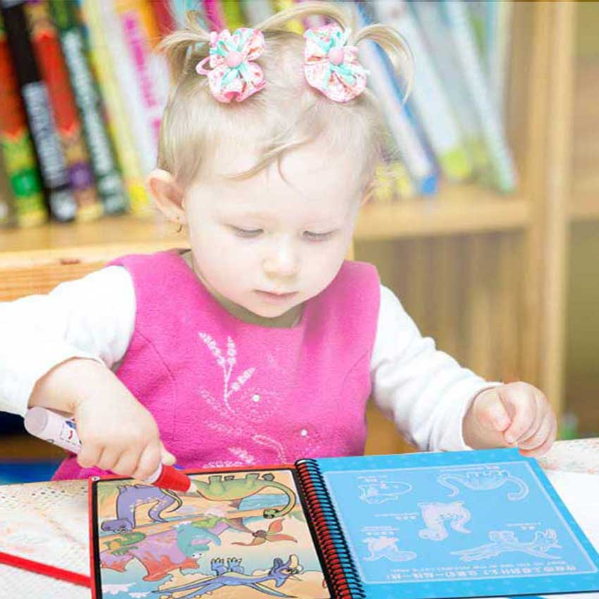 Magic Water Drawing Book Coloring  Doodle With  Pen Painting  Board   Kids Toys Educational