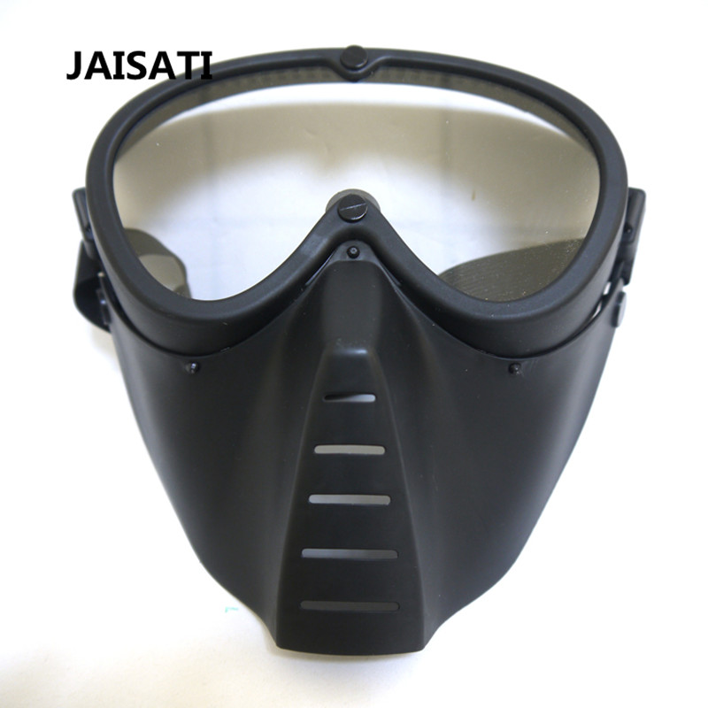 JAISATI Honey Bee PC lens full face protective mask CS field resistance impact fly water dust mask security labour protective mask equipment bicyle masks against the warm full face mask pirates of the caribbean dust mask fc