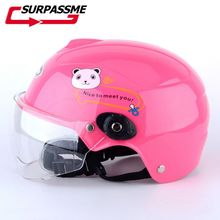 Children Boy and Girls Motorcycle Helmet Safety Kids Full Face Cartoon Winter Motorbike cute cartoon child safety helmet