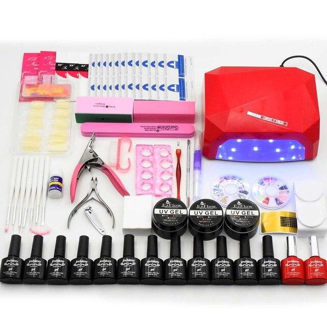 Nail art set NAIL Lamp 36W Dryer Manicure Tool 12 Color 10ml Soak ...