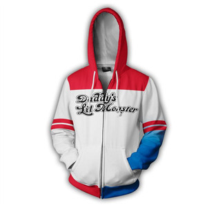 Image 2 - Movie Suicide Squad Harley Quinn Anime Hoodie Cosplay Costume Sweatshirt Jacket Coats Men Women New