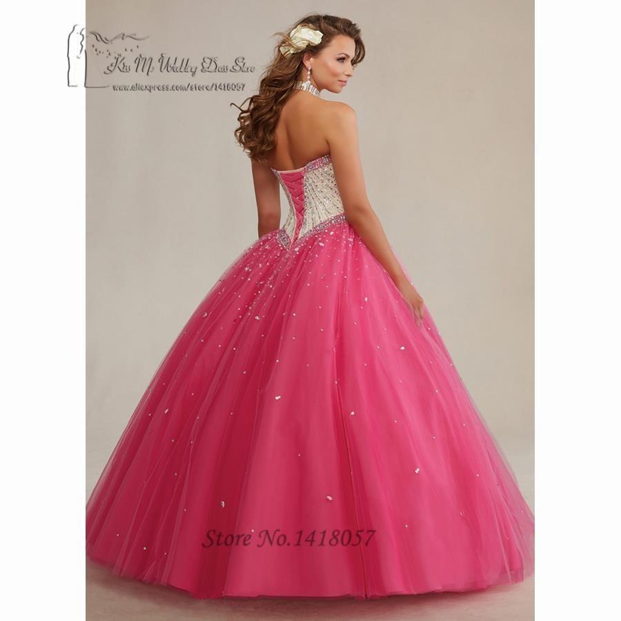 Fancy Fushcia Turquesa vestido de Bola Baratos Vestidos de ...