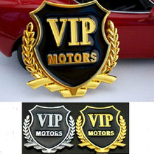 A PAIR 3D metal car stickers super cool VIP styling accessories automobiles motorcycle+