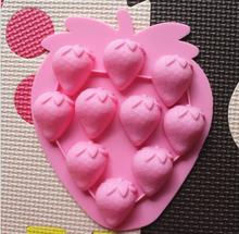 heart strawberry silica gel chocolate mould ice soap molds