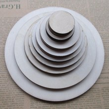 15/12/9/8/7/6/5/3cm 100pcs/bag DIY circular CARDS modelling label vows blank tags Baby develop intellectual toys 017010004