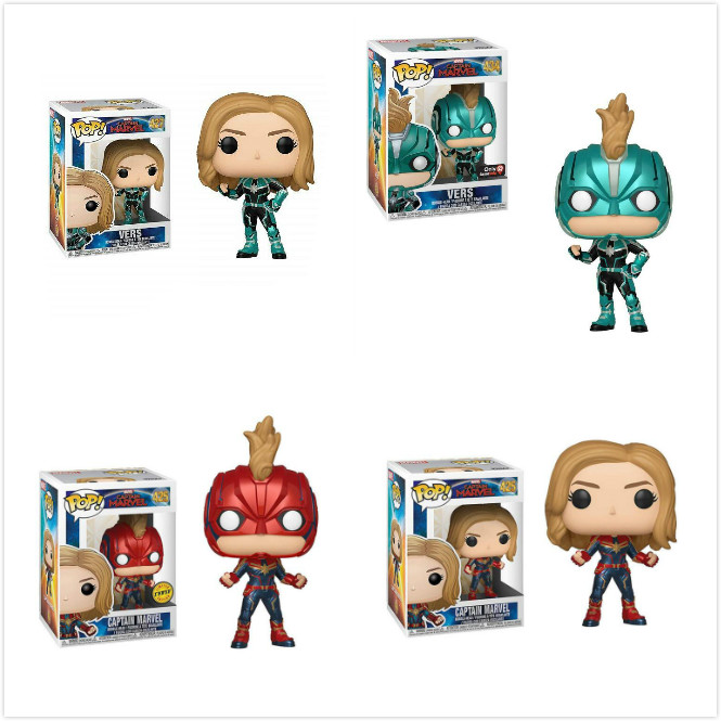 Funko POP Captain Marvel Carol Danvers Doll Action Figure Kids Baby Collectible Model Toys For Children Gift #427