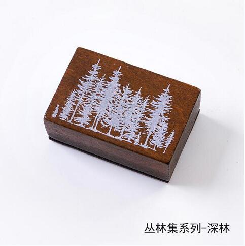 Винтажные лесные травянистые растения, украшение Луны, штамп, деревянные и резиновые штампы для скрапбукинга, канцелярские принадлежности, сделай сам, стандартный штамп - Цвет: 8